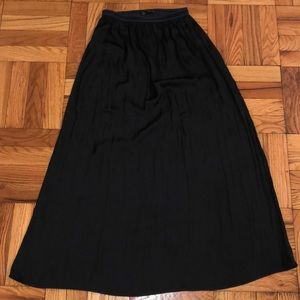 Black maxi dress by Zara